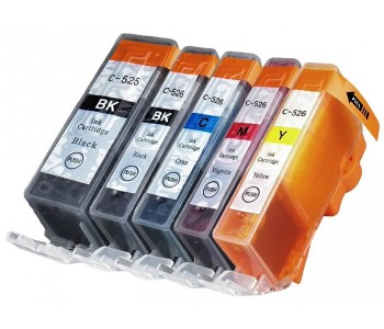 Compatible Multipack 5-Colour Canon PGI525 & CLI526 Printer Cartridge