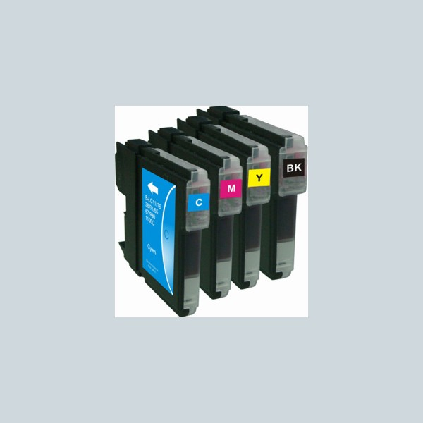 Compatible Multipack 4-Colour Brother LC-1100BK/C/M/Y Printer Cartridge