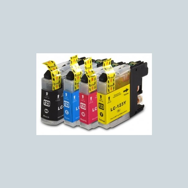Compatible Multipack 4-Colour Brother LC-123BK/C/M/Y Printer Cartridge