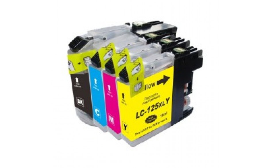 Compatible Multipack 4-Colour Brother LC-127BK LC-125C/M/Y Printer Cartridge