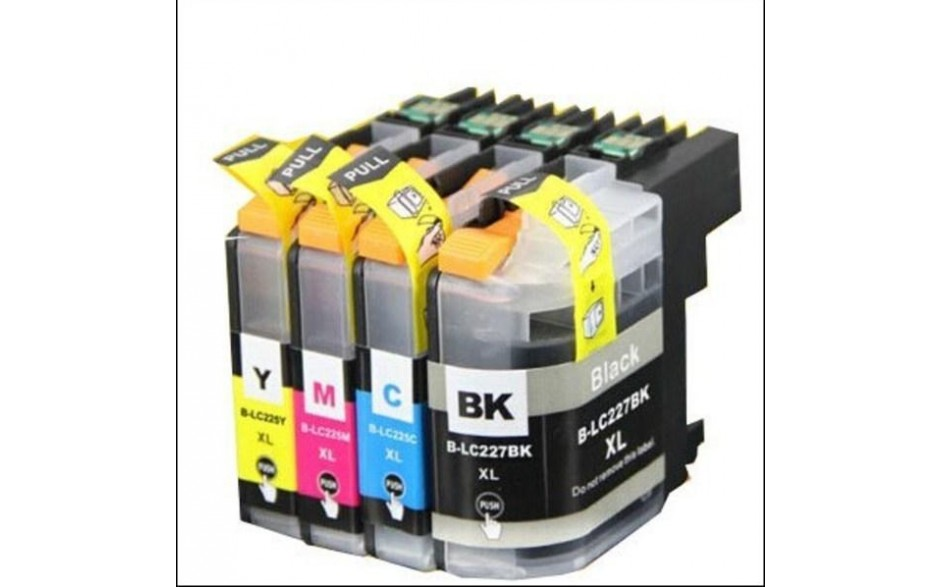 Compatible Multipack 4-Colour Brother LC-223BK/C/M/Y Printer Cartridge