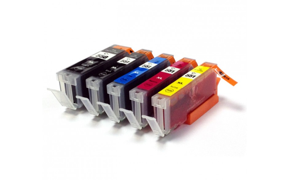 Compatible Multipack 5-Colour Canon PGI-550XL & CLI-551XL Printer Cartridge