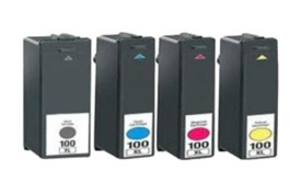 Compatible Multipack 4-Colour Lexmark 100XL Printer Cartridge
