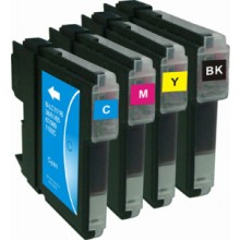 Compatible Multipack 4-Colour Brother LC-980BK/C/M/Y Printer Cartridge