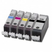 Compatible Multipack 5-Colour Canon PGI520 & CLI521 Printer Cartridge